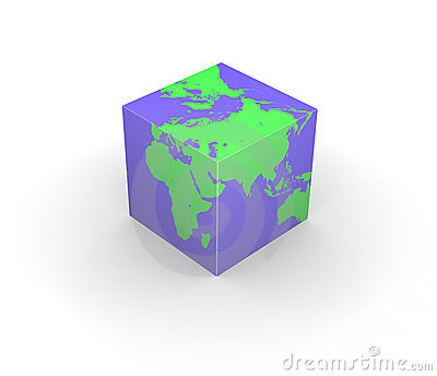 Cubic globe Earth cube square