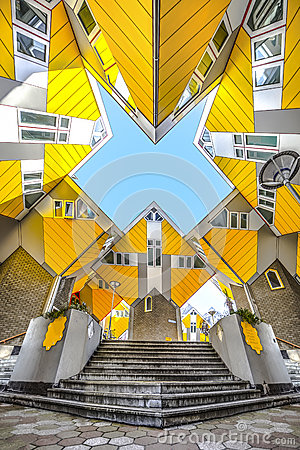 Free Cubic Houses At Rotterdam Royalty Free Stock Images - 68525229