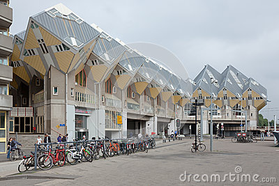 Cubic houses in Rotterdam Editorial Stock Image