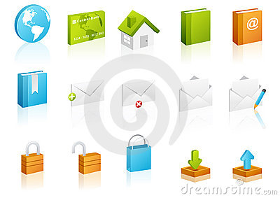 Cubic icon set: Website and Internet