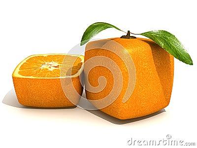 Cubic orange freshness