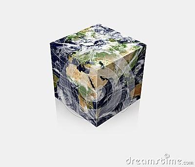 Cubic Planet globe Earth cube