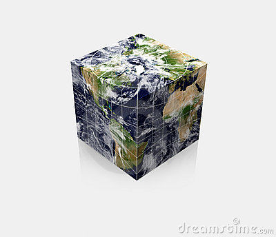 Cubic Planet globe Earth cube