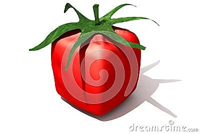Cubic tomato solo