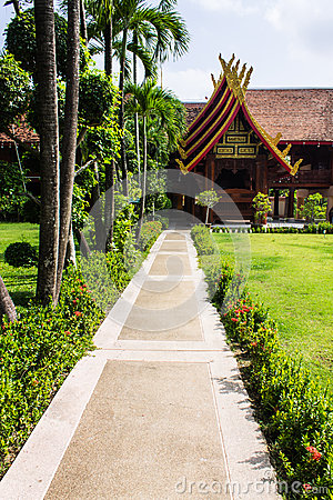 Cubicle lanna style in Wat Sri Don Moon , Chiangmai Thailand
