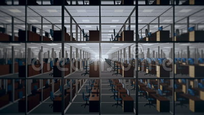 cubicles tömmer kontoret arkivfilmer