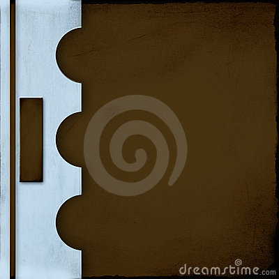 Cubierta azul y marrón del cuaderno con la etiqueta