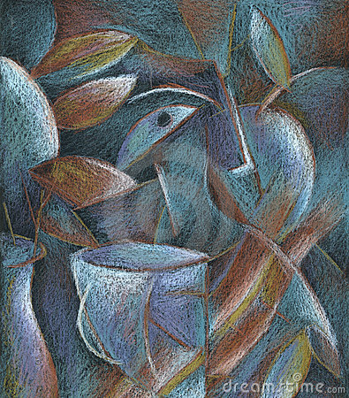 Free Cubism Pastel Painting Abstract Art Royalty Free Stock Images - 3271309