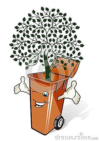 Cubo de basura de Eco