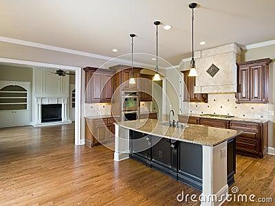 interno di lusso della casa con il salone e la cucina fotografia ... - Salone Cucina