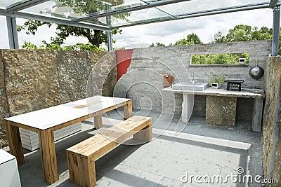 Cucina esterna pannelli termoisolanti - Cucina in muratura esterna ...
