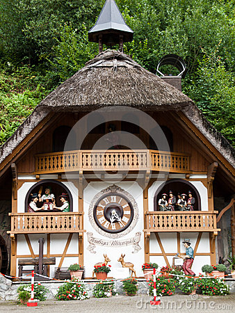 Cuckoo clock house in hornberg germany on the clock route