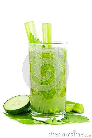 Cucumber celery smoothie
