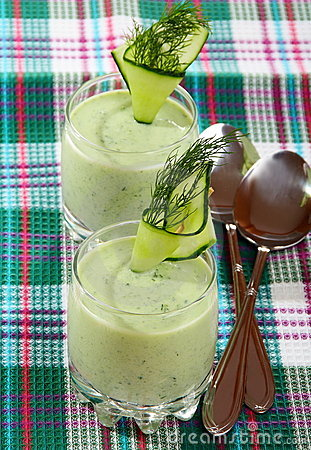 Cucumber cream soup.