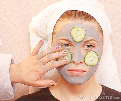 Cucumber grey mask