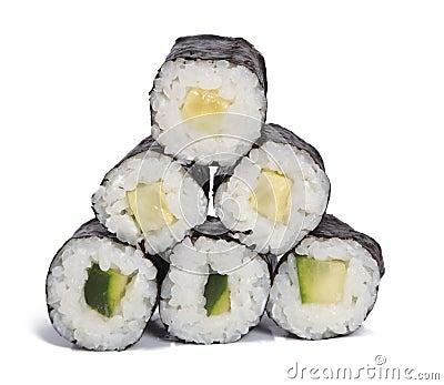 Cucumber maki rolls