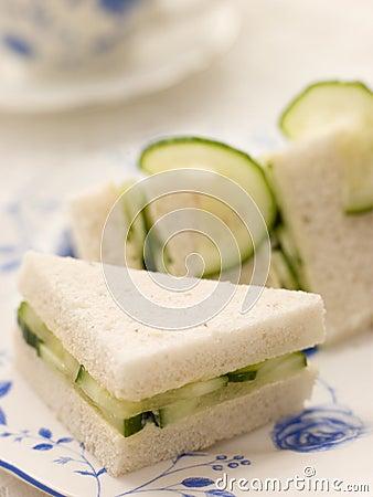 Cucumber Sandwich on White Bread