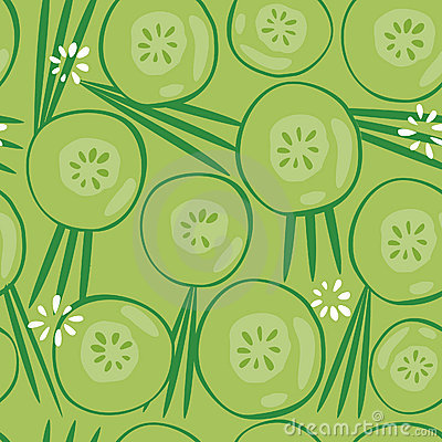 Cucumber Seamless Background