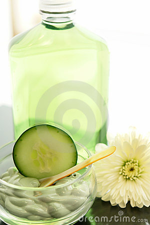 Cucumber spa treatment