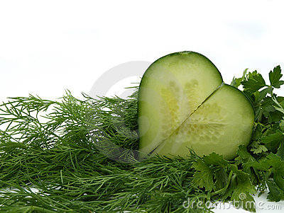 cucumber and vegetables