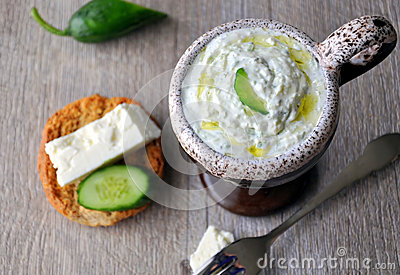 Cucumber yoghurt dip (Tzatziki)