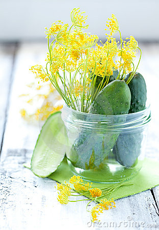 Cucumbers and dill