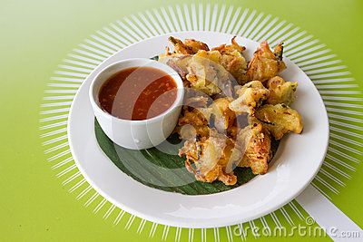 udang cucur udang prawn fritters are eaten as even cucur udang ...