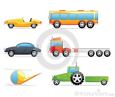 Cue Transportation Icons Royalty Free Stock Photography - Image: 25306027