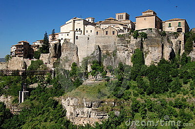 Cuenca, Spain: View of City atop Cliffs