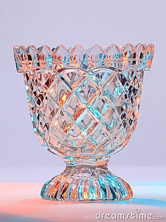Cuenco de cristal tallado