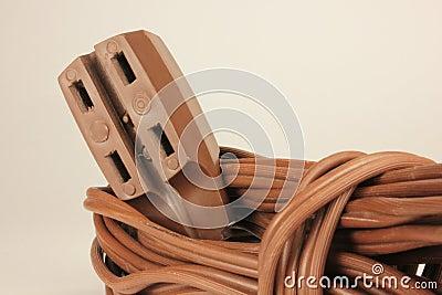 Cuerda de extensión con los socketes múltiples