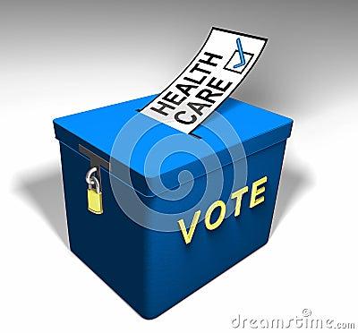 Cuidado médico A del voto