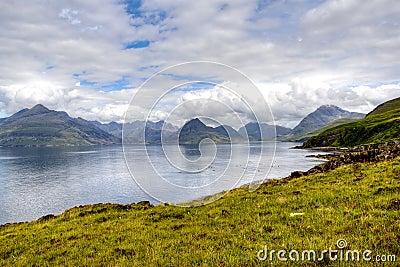 Cuillin hills in Isle of Skye Scotland