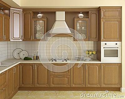Cuisine classique en bois image stock image 19480051 Cuisine classique en bois massif
