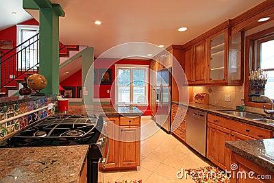 cuisine moderne luxueuse photographie stock image 15990322. Black Bedroom Furniture Sets. Home Design Ideas