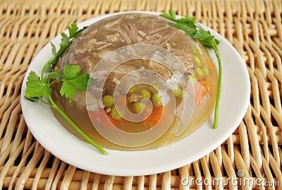 cuisine polonaise aspic de porc photo stock image 38833358. Black Bedroom Furniture Sets. Home Design Ideas