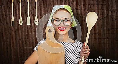 Cuisinière de femme