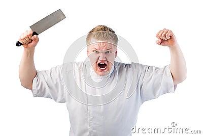 Cuisinier fâché