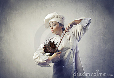 Cuisinier malpropre