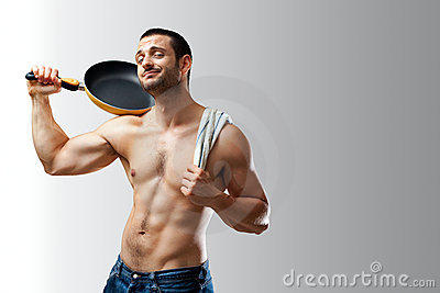 Cuisinier sexy taquinant