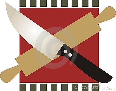 Culinary crossbones chefs knife rolling pin
