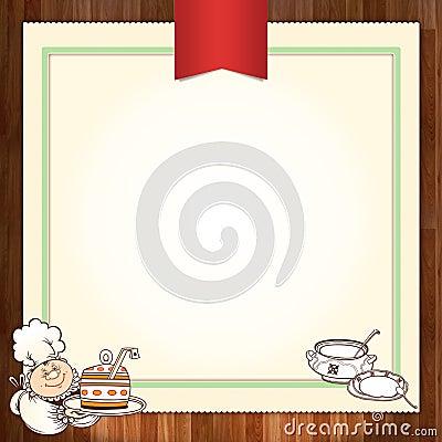 Culinary menu template