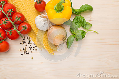 Culinary Pasta cooking background