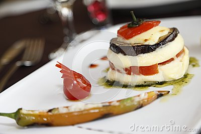 Culinary specialties with tomatoes