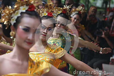 Cultural dances of Bali Editorial Stock Photo