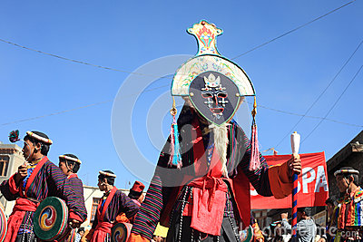 Cultural procesion during Ladakh festival Editorial Photography