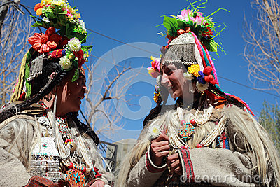 Cultural procesion during Ladakh festival Editorial Stock Image