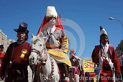 Cultural procesion during Ladakh festival Editorial Image