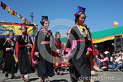 Cultural procesion during Ladakh festival Editorial Stock Photo
