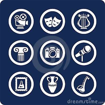 Free Culture And Art Icons (set 12, Part 1) Stock Images - 602574